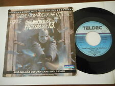 "HOT ICE Theme From Friday the 13th  7"" TELDEC 1983 Manfredini DISCO OST"
