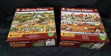 """2-1000 PC Puzzles by Anthony Kleem, """"General Store"""" & """"Strike it Rich"""" Complete"""