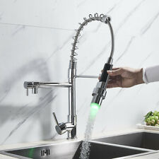 DayPlus Modern Kitchen Pull out Hose Spray Mixer Tap Single Lever Chrome Faucet