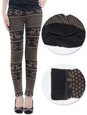 Lau-Fashion Damen Warme Winter Leggings Gefüttert Stretch Norweger Thermo S/M
