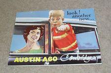 Austin A60 Cambridge Brochure 1961