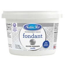 Satin Ice Silver Shimmer Vanilla Fondant, 1 Lb
