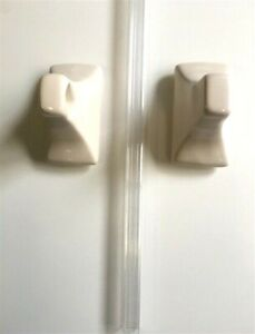 "24"" Towel Bar Almond Glossy Glazed Ceramic Tub Shower Bath Accessories Wall"