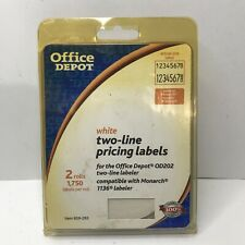 Office Depot White Two Line Pricing Labels 2 Rolls 1750