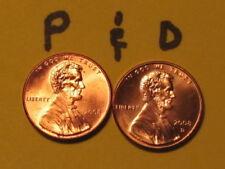 Ten Uncirculated rolls of Lincoln Memorial Cents 2008-P/&D.5 each.