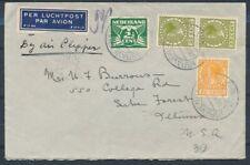2½ CT.DUIF,15 CT.+25 CT.IN PAAR VETH OP LP.COUVERT 'sGRAVENHAGE 26.VII.1939Zj733