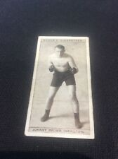 Johnny Brown Hamilton1928 Ogdens Boxing Cigarette card Boxer Pugilists in action