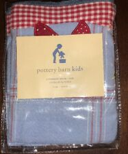 Pottery Barn Kids Strawberry Rolling Wicker Basket Liner Large NEW