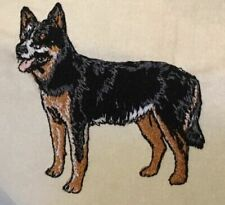 Australian Cattle Dog Mens Polo Shirt 100% Cotton Pique Embroidered Large Sand