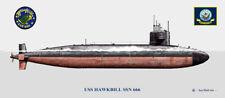 USS Hawkbill SSN-666 Ship Print US Navy