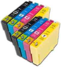 8 T1295 non-OEM Ink Cartridges For Epson T1291-4 Stylus Workforce WF-3010DW