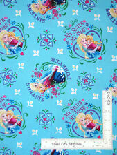 Disney Frozen Sisters Forever Hearts Cotton Fabric Springs CP53517 By The Yard