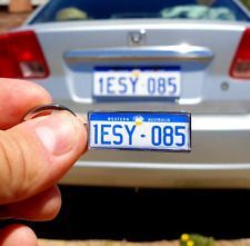 Personalized Two-sided Keychain with Your Number Plate / Name / Car Logo etc.