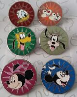 Magical Mystery Series 6 Round Starburst Set Choose a Disney Trading Pin