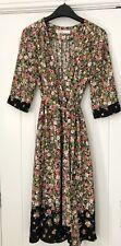 Zara Basic Black Floral Long Sleeve Tea Dress Size XS 8 10
