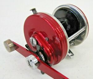Vintage Abu Garcia Ambassadeur 9000 Red Automatic Two Speed Fishing Reel Sweden