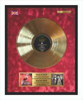 Depeche Mode Speak & Spell Gerahmte Goldene Schallplatte Auf Rotem Samt Hintergr
