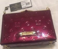 NWT 19V69 ITALIA by Versace Wine Patent Leather Scarlet Crossbody Bag Purse