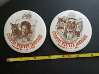 Golden Nugget Country Western Jamboree Pinback Button Lot of 4 Kenny Rogers 1987