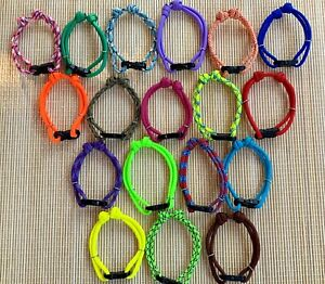 Set of 8 Different Colors Breeder ID Whelping/Puppy Collars with Buckle
