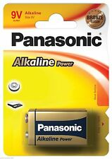 Panasonic 9 V-Block Einweg-Batterien aus Alkali-Mangan