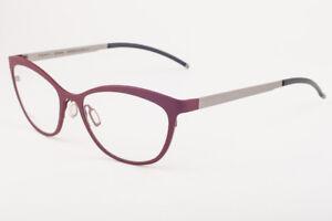 Orgreen SUZIE BLUE 626 Matte Beet Red / Sandblasted Titanium Eyeglasses 52mm