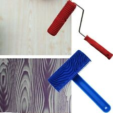"Paint Roller Kit 2Pcs Rubber 7"" Wood Graining Tool for DIY Painting 10×15.5cm"