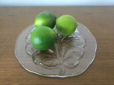 Orrefors Eden Tree Of Life Leaf Glass Cheese Cake Plate Tray - 22cm - like New