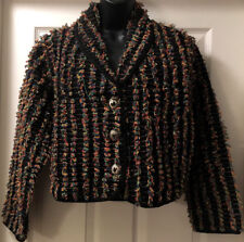 Don't Mess With Texas Womens Western Jacket Concho Buttons Black Sz S - Mint!