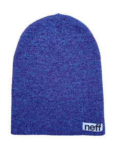 NEFF Unisex Tri Color Blue Purple Hat Beanie   One Size