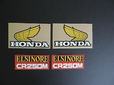 1976 Honda CR 250 Elsinore Gas Tank And Side Panel Decal Set Vintage Motocross