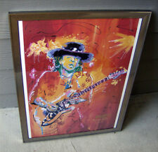 Red Hot Stevie Ray Vaughan Giclee Print 2000 Michael Maness