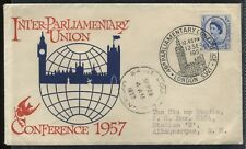 GB 1957 Inter-Parliamentary Union 4d First Day Cover