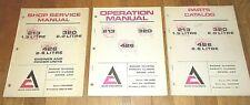 """Allis-Chalmers""  213, 320, & 426  Shop Service, Operation & Parts Manuals VG+"