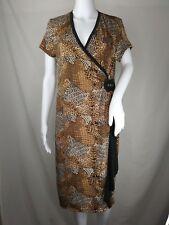 New listing Milano dress medium animal print shift cheetah reptile short sleeve knee length
