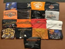 Lot of 17 Official Harley Davidson T-Shirts All Men's Size Large