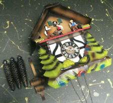 woodcutter's woodsmen cuckoo clock, w/ box - as is