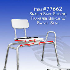 Buy sliding transfer bench with cutout swivel seat