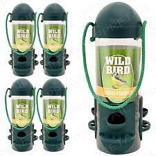 4 x WILD BIRD HANGING FEEDER PACK Garden Seed/Peanuts/Nuts Perch Hanger Squirrel