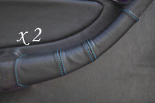 BLUE STITCH FITS TOYOTA CELICA GT4 T18 90-93 2X DOOR HANDLE LEATHER COVERS