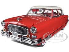 1952 NASH AMBASSADOR AIRFLYTE RED/WHITE 1/18 DIECAST MODEL CAR BY SUNSTAR 5116