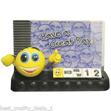 Smiley Central Photo Frame with Calendar and Emoticon