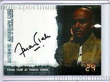 24 Twenty Four Season 4 Faran Tahir Autograph Card