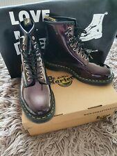 Dr Martens Purple Sparkle 8 Hole Boots Size 9 Bnwb
