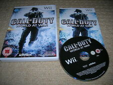 CALL OF DUTY: World at War - Raro Juego Para Nintendo Wii ! Wii