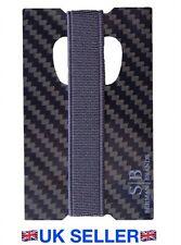 Titular de la tarjeta de fibra de carbono & Dinero Clip RFID 100% GENUINO DE FIBRA DE CARBONO MUY LIGERO