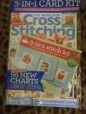 The World of Cross Stitching, cross stitch magazine, 2018, 98 charts, cards