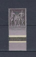 France 103** mnh**  type Sage 10c. noir sur lilas bord de feuille inférieur 1898