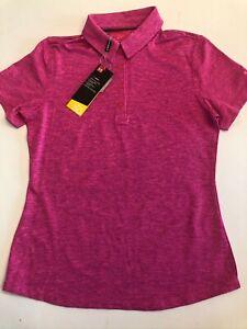 Under Armour New Zinger 2.0 Short Sleeve Golf Polo Shirt Women's Medium MSRP $70