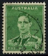 Australia 1937-49 SG#183, 1.5d VERDE SMERALDO kgvi USATO #D48802
